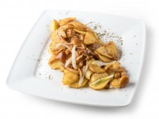 Картопля по-домашньому з грибочками