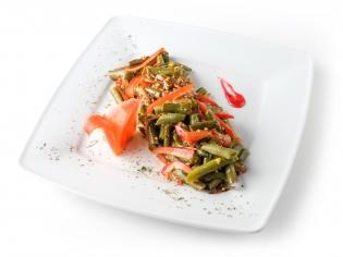 Квасоля стручкова з овочами