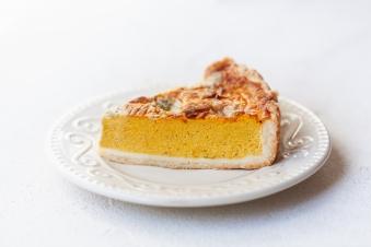 Гарбузовий пиріг з блакитним сиром