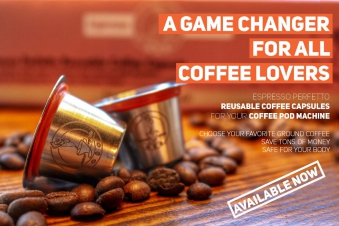 EP Reusable Coffee Capsule x2