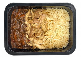 Рис із куркою теріякі