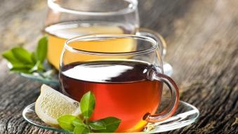 Чай с лимоном зеленый