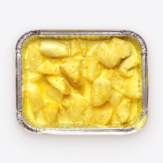 Курка у вершковому соусі карі з ананасом