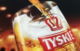 Piwo Tyskie Gronie z nalewaka