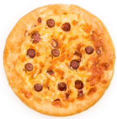 Говяжьи колбаски, картофель, сыр, сметана