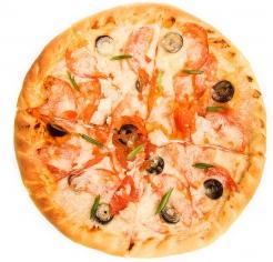 Моцарелла, филе цыпленка, оливки, томаты