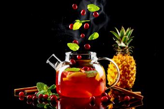 чай фруктовий з журавлиною 0.96 л.