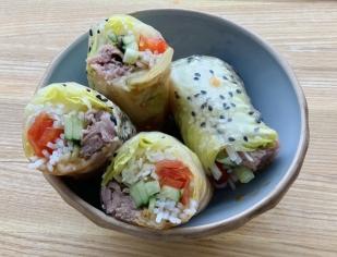 Beef Kimchi Spring Rolls