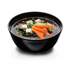Місо суп з лососем