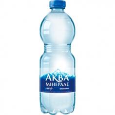 Вода аквамінерале газ 500мл