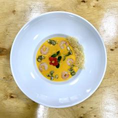 Суп гарбузовий з креветками