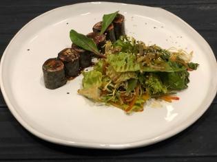 Салат в тайскому стилі з ростбіфом та крем-сиром 200 г
