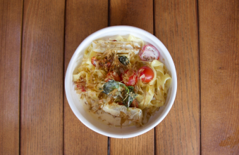 Тальятелле з кальмаром і соусом з копченого лосося (100/100/100)
