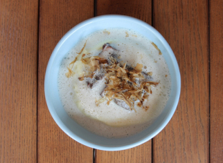 Стейк з телятини з картопляним кремом та піною з трюфеля