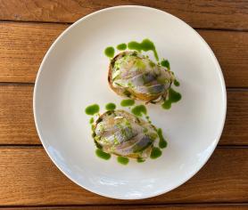 Смореброд з капустою кім-чі (180)