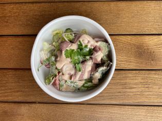Салат з телятиною та томатною емульсією (210г)
