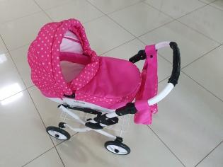 Візок для ляльок Lilu рожевий