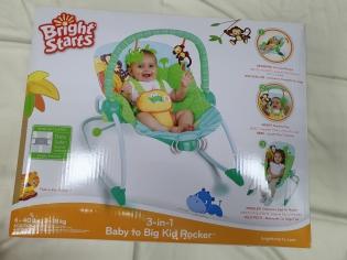 Крісло гойдалка 3 в 1 Baby to big kid rocker до 18 кг