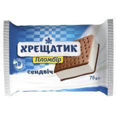 Мороженое сэндвич с печеньем Хрещатик