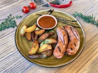 Домашні ковбаски курячі