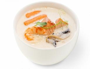 Місо суп вершковий з лососем (400г)