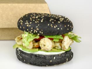 Бургер Чорний з креветкою