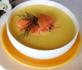 Крем суп з лосося