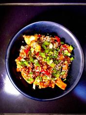 Курка з овочами та рисом по тайські WOK