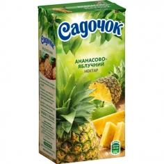 Ананасово-яблучний нектар Садочок, 0.5 л