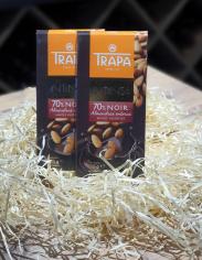 Шоколад чорний 70% з мигдалем 175 гр.