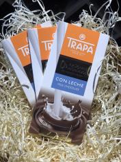 Шоколад 80гр Trapa  молочний без цукру