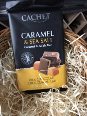 Шоколад молочний з солоною карамеллю 300гр