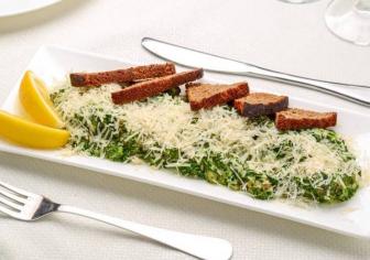 Мідіі у вершково-шпинатному соусі