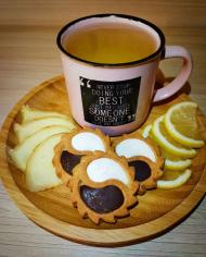 Чай імбирно-лимонний