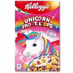 Сухой завтрак Kelloggs Froot Loops Unicorn Edition 375г США