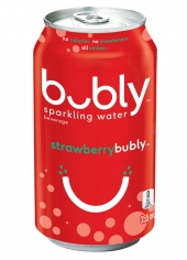 bubly sparkling water Strawberry 355ml