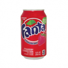 Fanta Strawberry Клубника ( USA, state Atlanta)