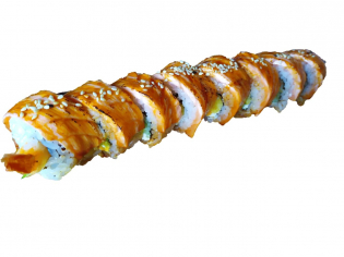 Креветка з опаленим лососем