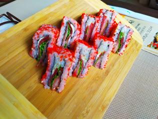 Суші сендвіч лосось