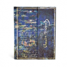 Embellished Manuscripts, Monet, Water Lillies, Ultra, Lined, 9781439722237