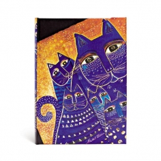 Laurel Burch, Mediterranean Cats, midi, lined, 9781551563961