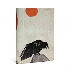 Alistair Bell, Crow with Red Sun, Midi, Lined, 9781439731796