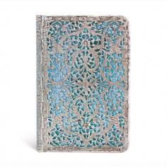 Silver Filigree, Maya blue, mini, lined, 9781439725665