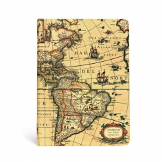 Early Cartography, Western Hemisphere, midi, lined, 9781439752982
