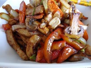 Свинина з овочами гриль 100г (пт)