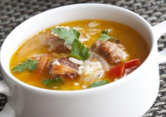 Суп рисовий з м'ясом 250г (пн)