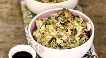 Рис з грибами та сиром 200г (чт)