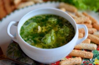 Суп зі Шпинатними Галушками 250г (пн)