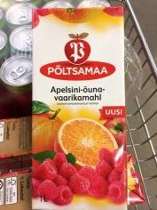 Apelsini-õuna-vaarikamahl 1L